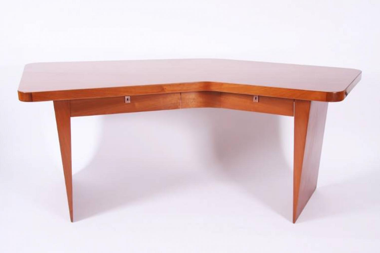 Sapele `Boomerang` Desk