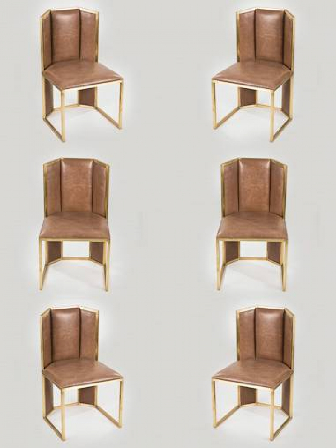 Set of 8 1970`s Italian Dining Chairs
