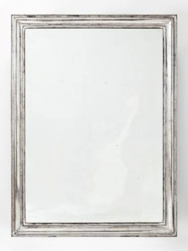C19th French Silver Leaf Mirror