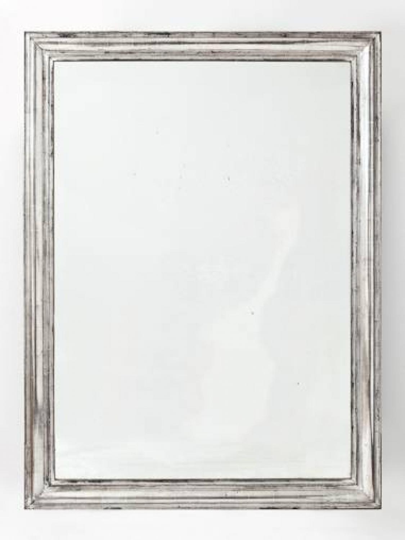 C19th French Silver Leaf Mirror