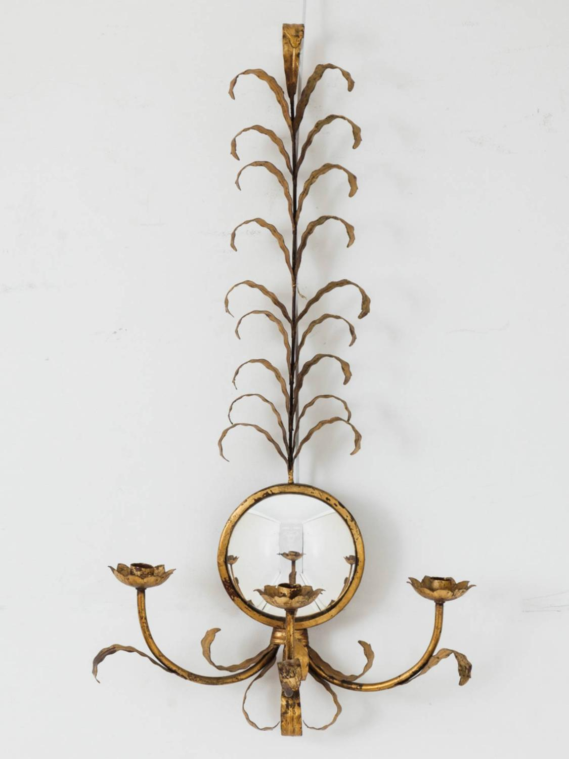 Mirrored Gilt Sconce