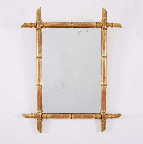 Gilded Bamboo Mirror