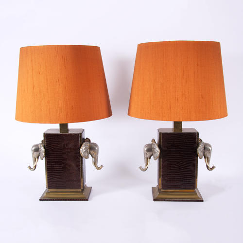 Pair of Elephant Table Lamps