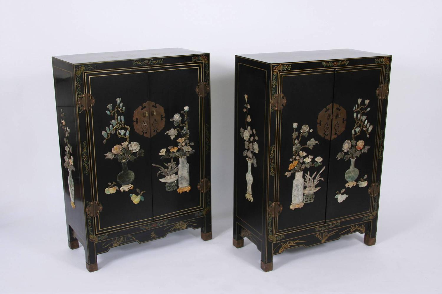 Pair of Chinoiserie Cabinets