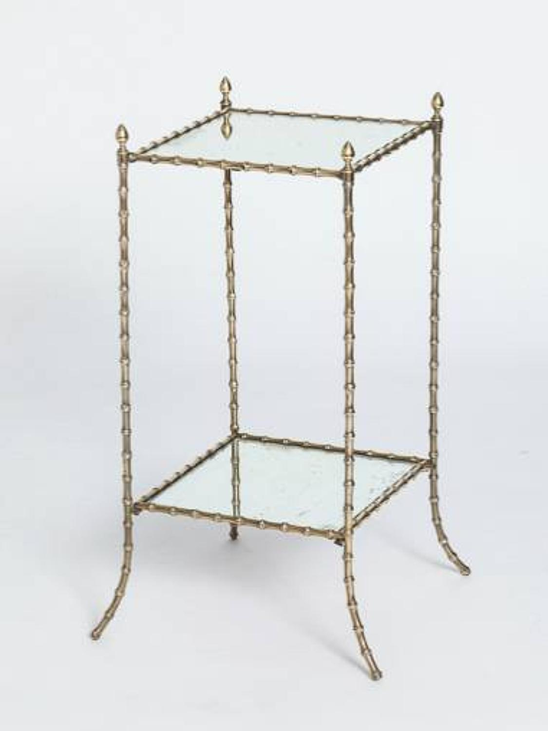 Mid 20th Faux Bamboo Side Table