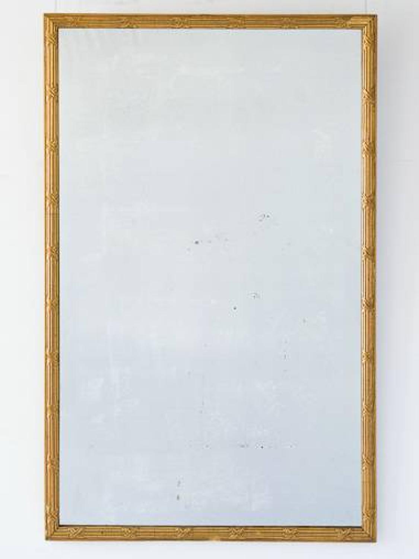 C19th Italian Reeded Mirror