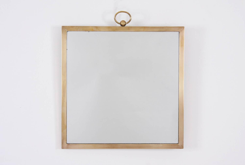 Small Brass Mirror