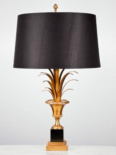 Pair of Urn and Frond table lamps