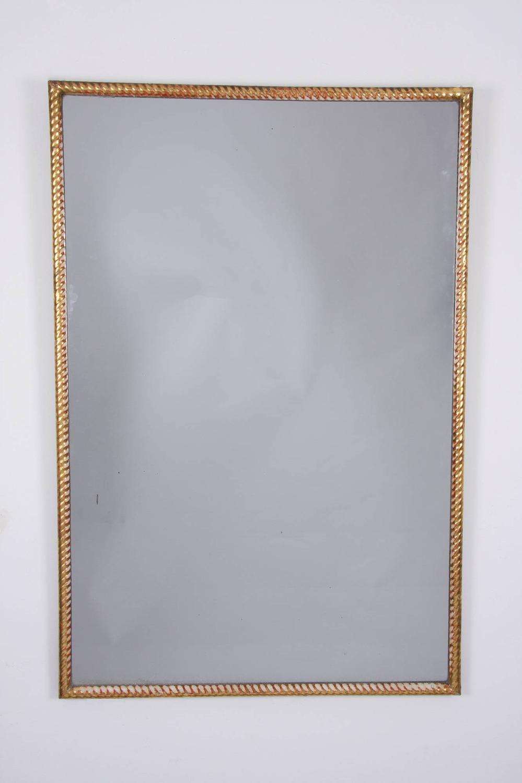 Giltwood Rope Twist Mirror