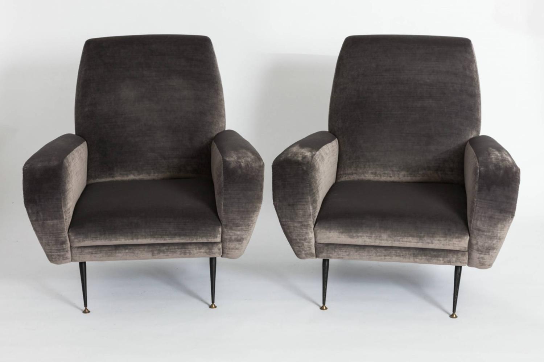 Pair of Velvet Club Chairs