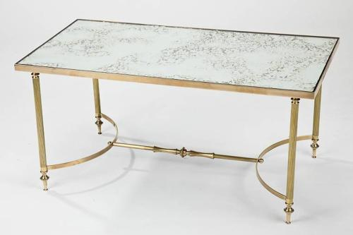 Pair of 1960`s mirrored coffee tables