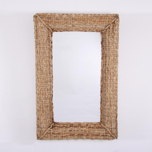 Basket Weave Framed Mirror