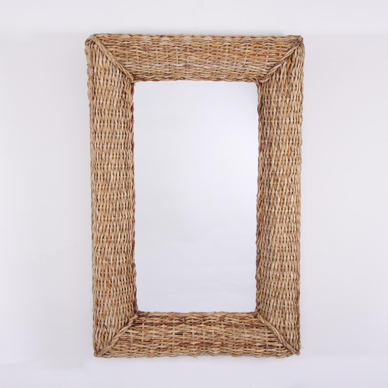 Basket Weave Framed Mirror