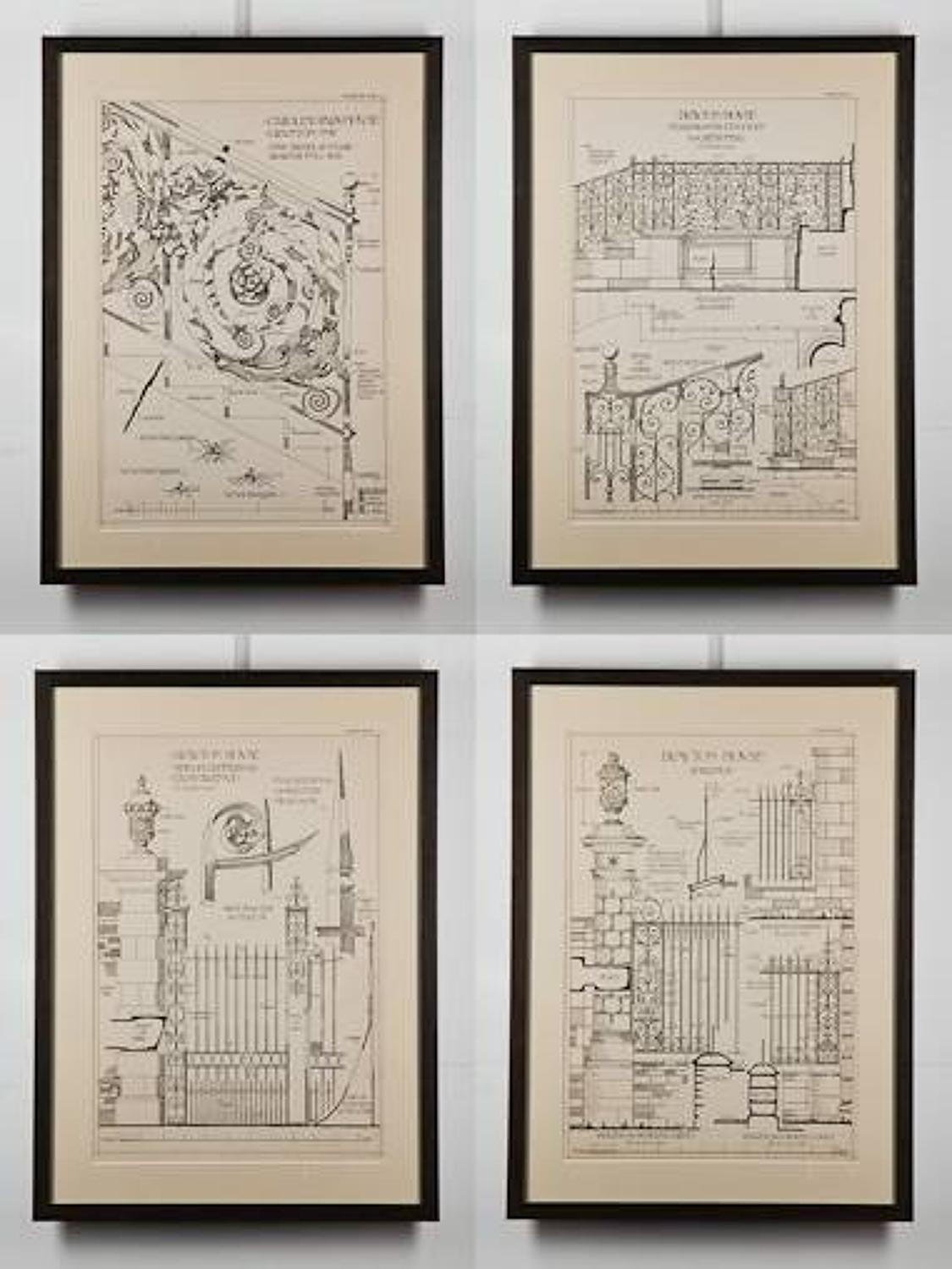 Framed Architectural Ironwork Prints
