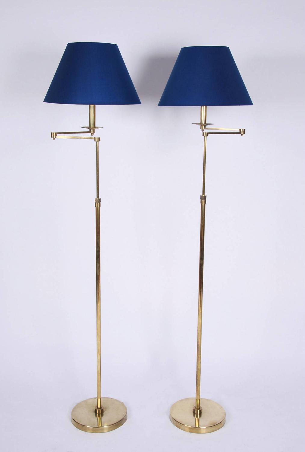 Pair of Adjustable Height Floor Lamps