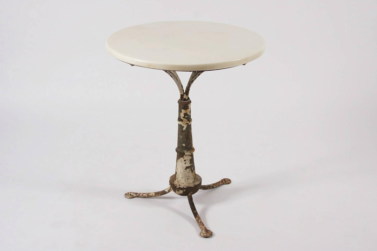 Marble Top Cafe Table