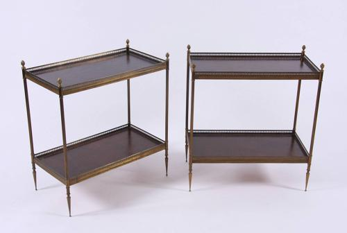 Pair of Leather Side Tables
