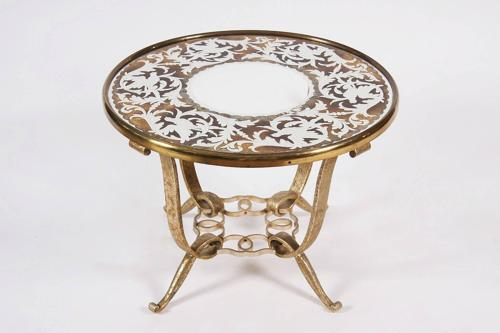 Verre Eglomise Table