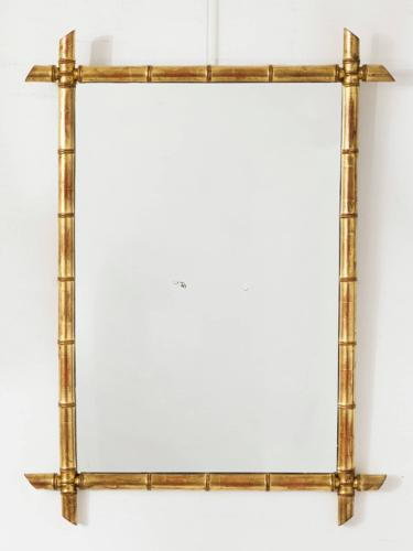 Pair of Faux Bamboo Mirrors