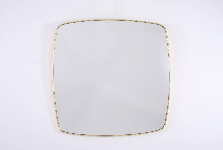 Mid Century Brass Mirror