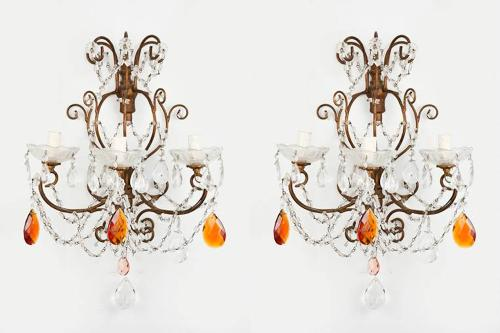 Pair of French 1960`s Wall Sconces
