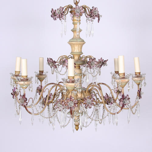 Amethyst Flower Chandelier