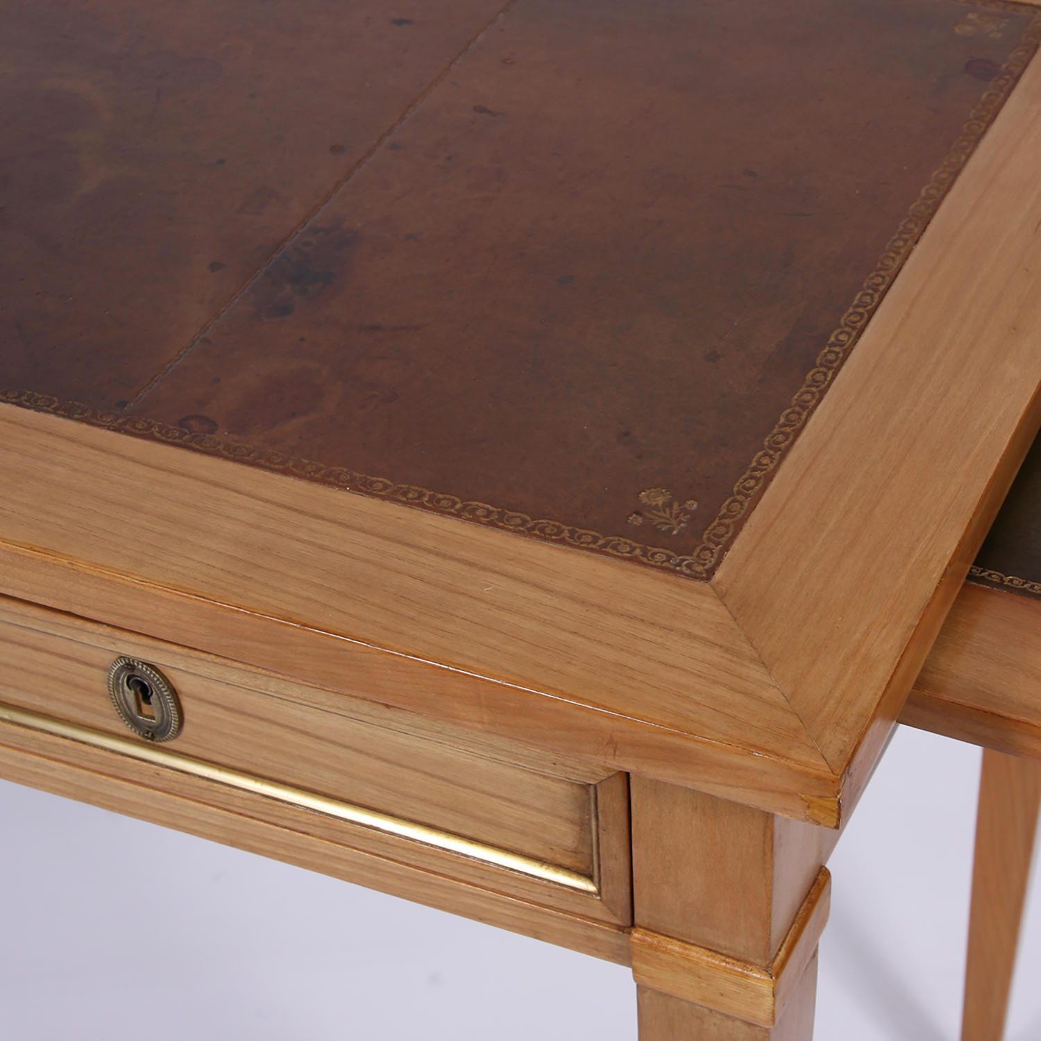 Small Leather Topped Desk Picture 3