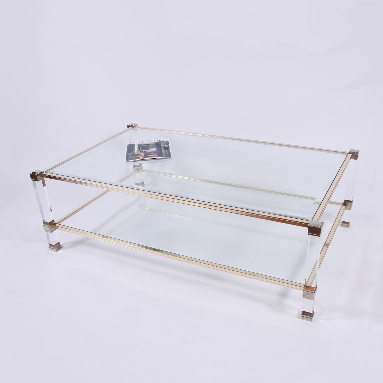 Lucite & Metal Coffee Table