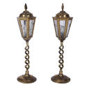 Pair of Brass Table Top Lanterns - picture 1
