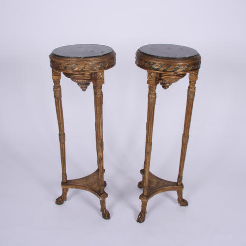 Pair of Tall Giltwood Tables