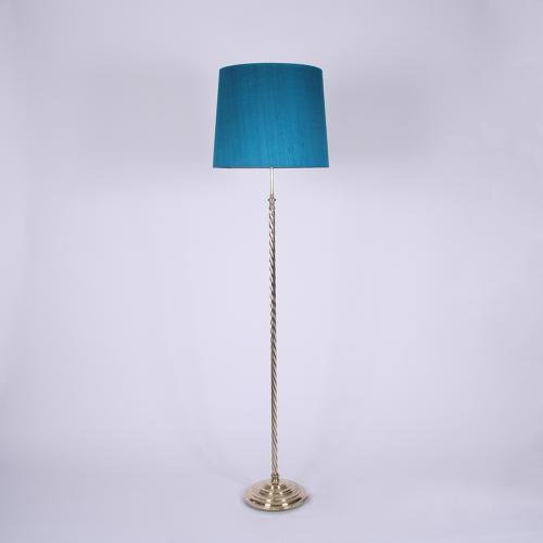 'Rope Twist' Brass Floor Lamp