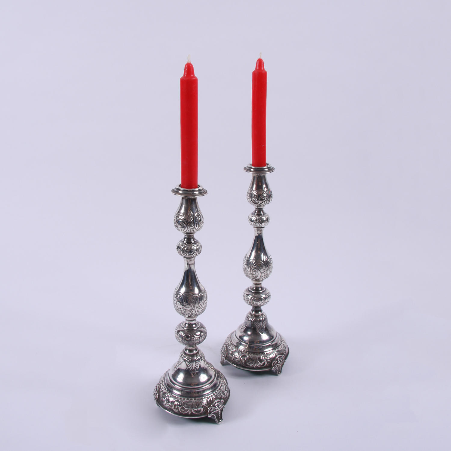 Early C20th Silver Pair of Candlesticks