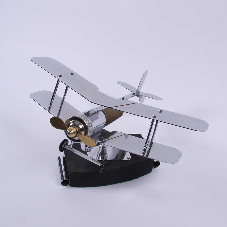 1930's Model Biplane Desk Lamp