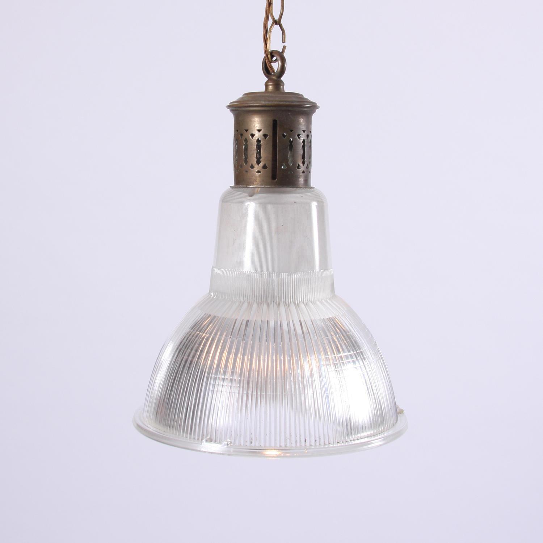 Brass Holophane Lamp