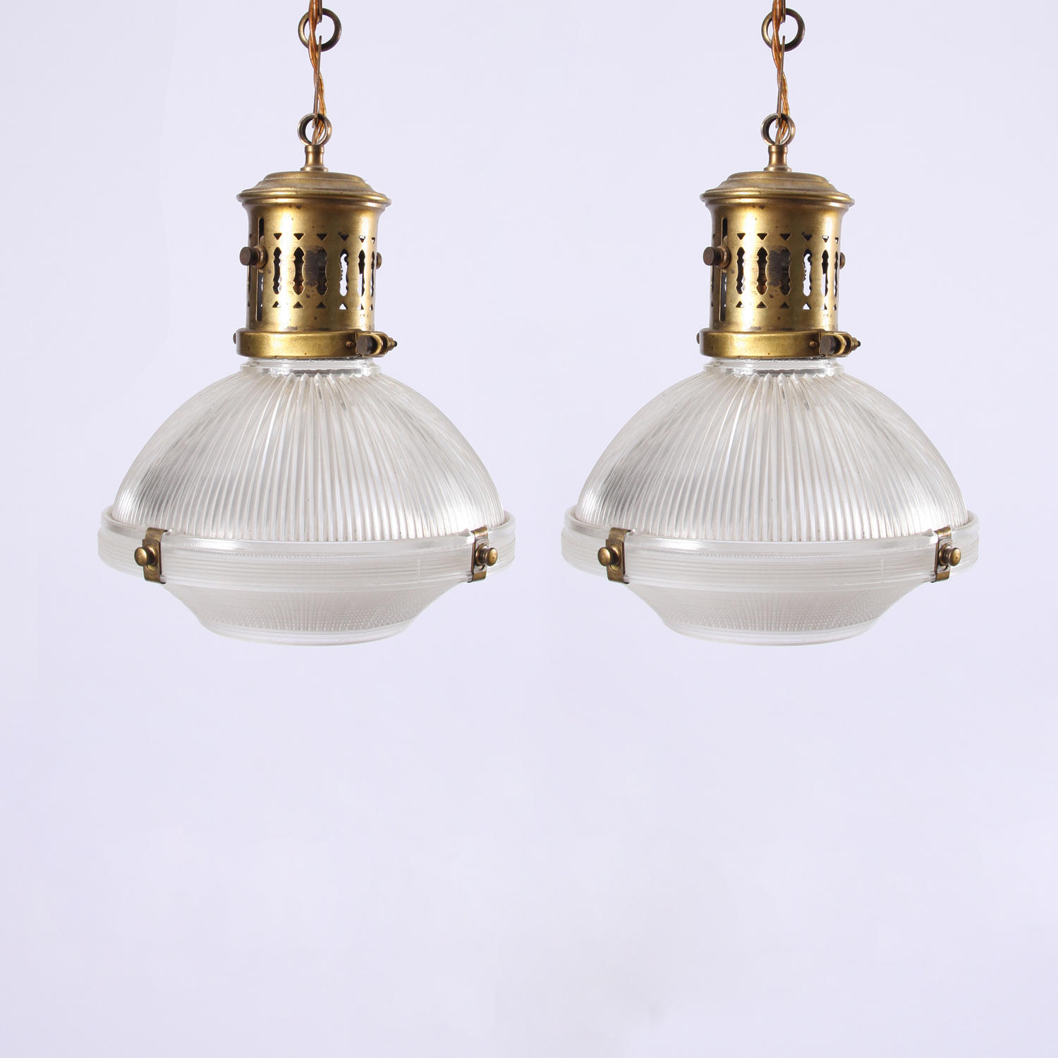 Pair of Holophane Lamps