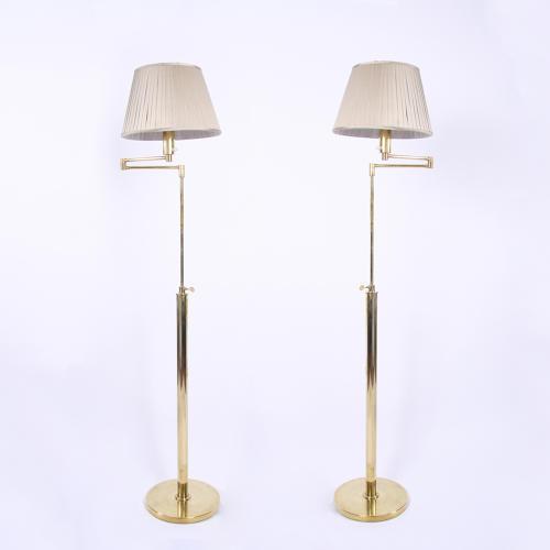 Pair of Swing Arm Floor Lamps