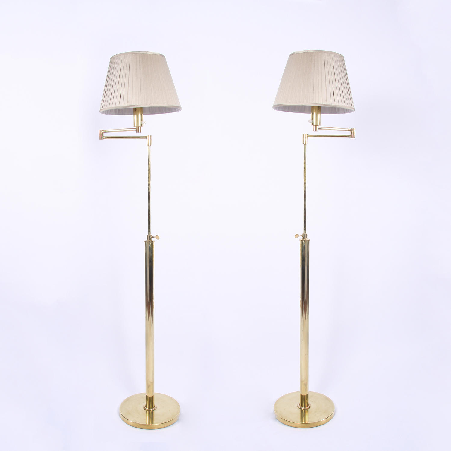 Pair of Swing Arm Floor Lamps