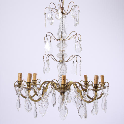8 Branch Crystal Chandelier
