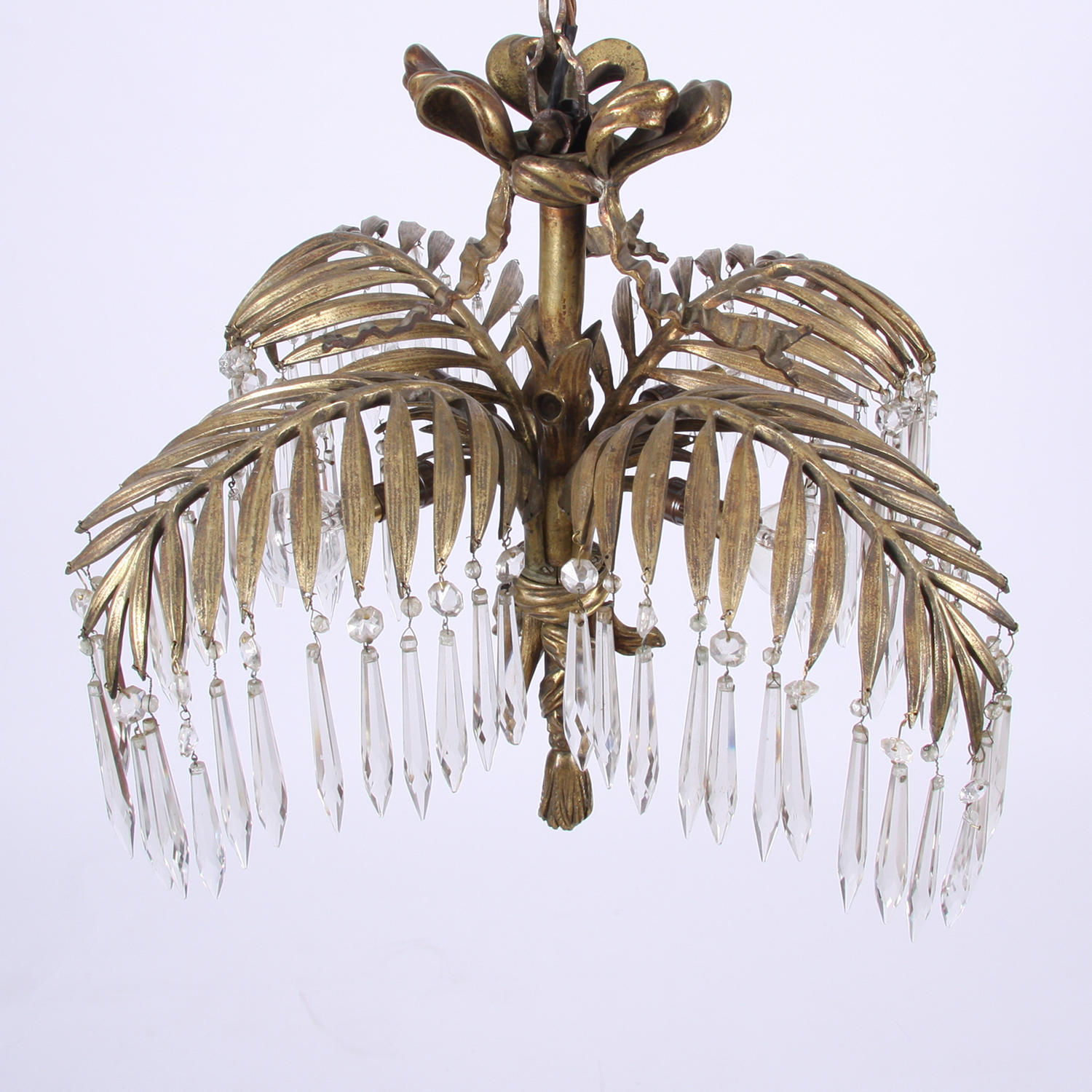 Palm Frond Chandelier