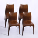 Set of Four Flow Chairs by Jacob Berg - picture 1