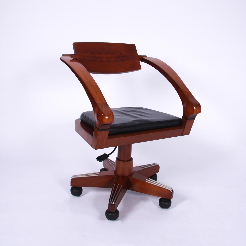 Italian Giorgetti Swivel Chair