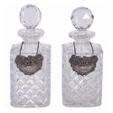 Pair of Decanters With Spirit Labels - picture 1