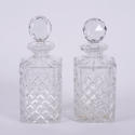Pair of Decanters With Spirit Labels - picture 2