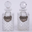 Pair of Decanters With Spirit Labels - picture 5