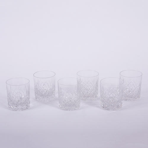 Set of Cut Glass Tumblers