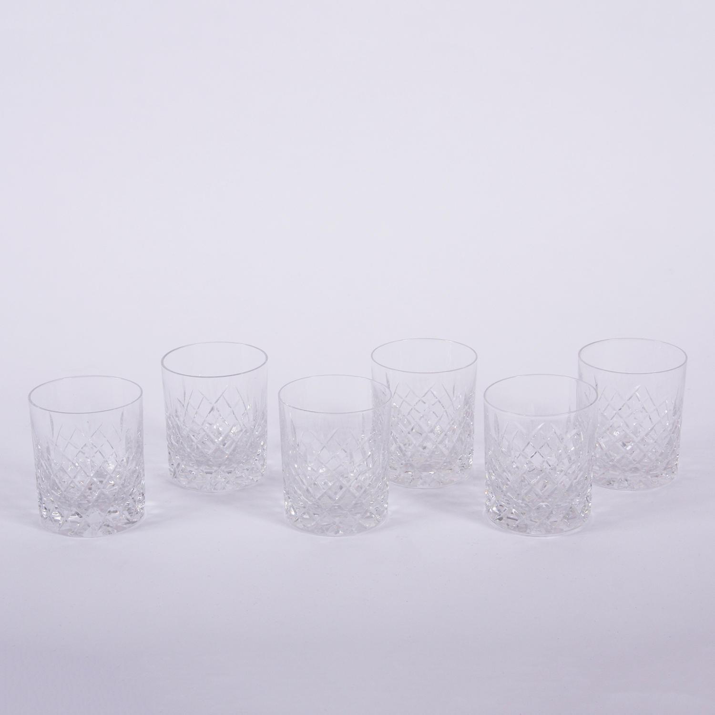 Set of Cut Glass Tumblers