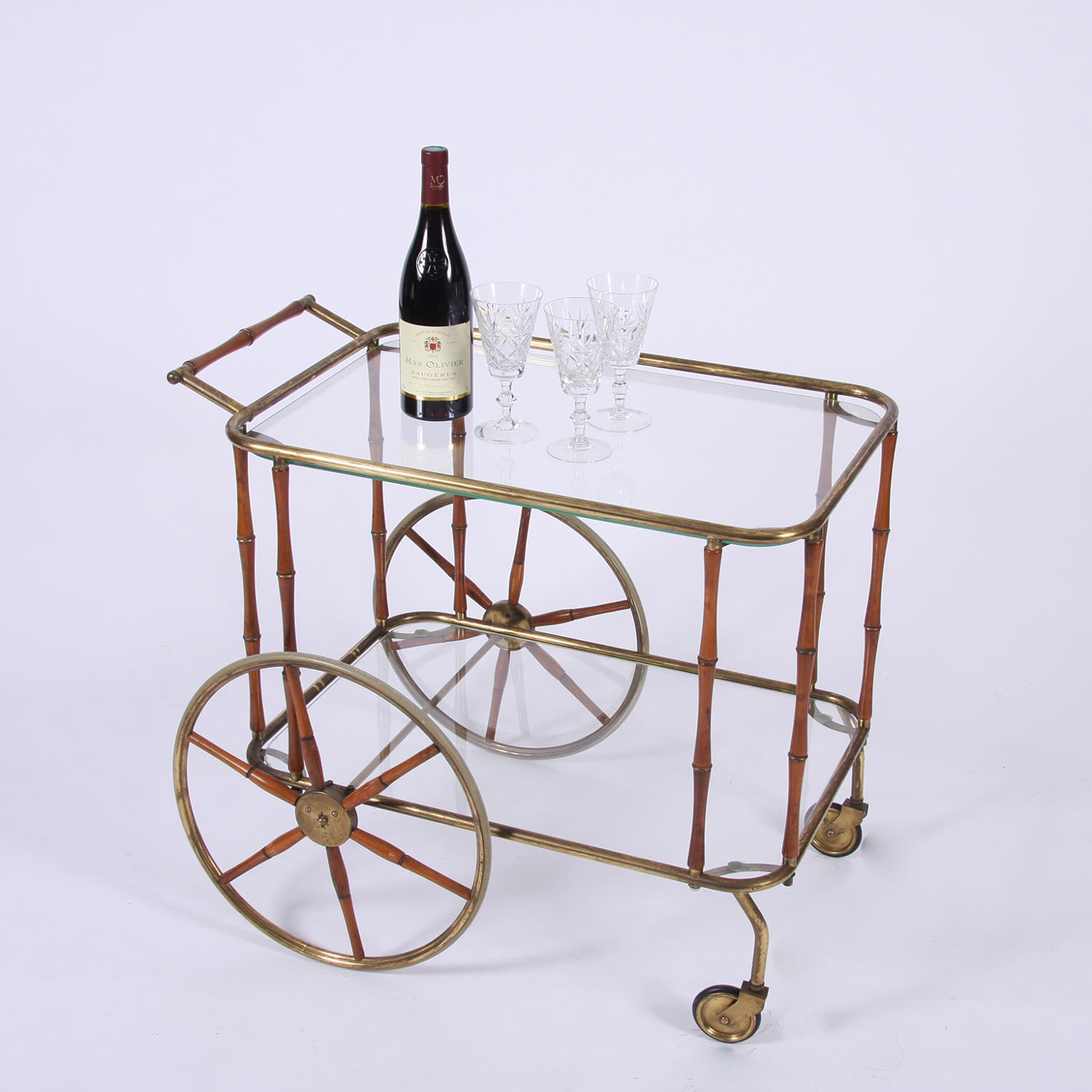 Bamboo Bar Cart