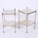 Pair of Brass and Marble Side Tables - picture 2