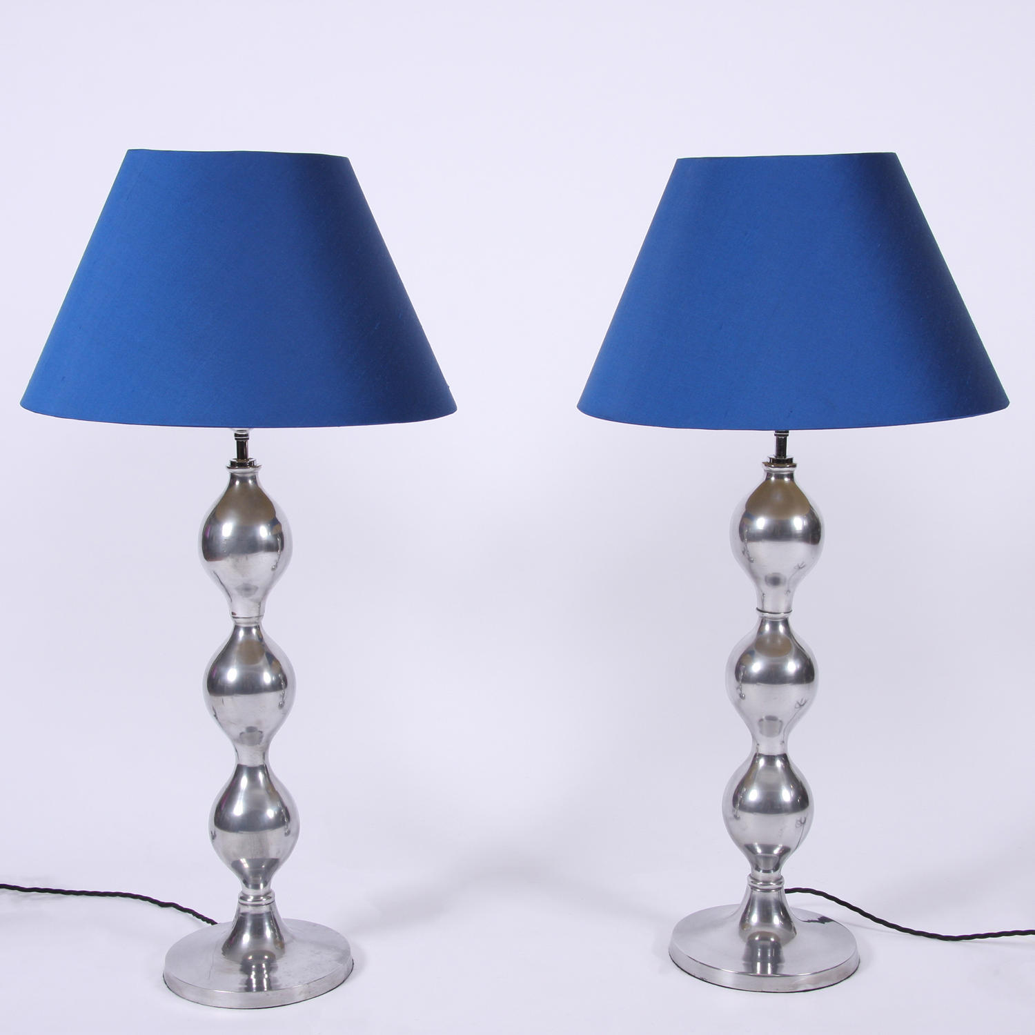 Pair of Aluminium Table Lamps