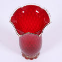 Red Glass Vase Murano - picture 3